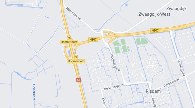 Afrit 8 Hoorn Centrum A7 op 12 september a.s. afgesloten! Omrijden vereist.